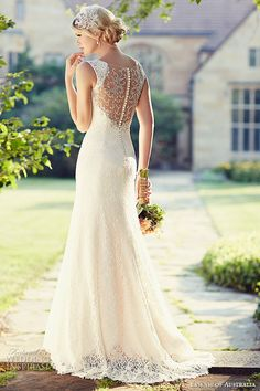 essense of australia wedding dress 2015 bridal lace shoulder strap sweetheart neckline embellished illusion back sheath gown d1848
