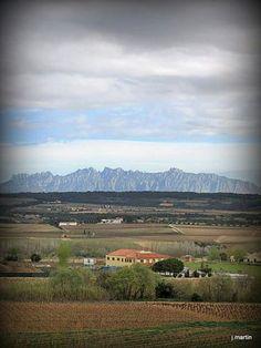 Montserrat des del Penedes. Catalunya