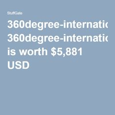 360degree-international.de is worth $5,881 USD