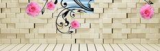 De parede Flores background, Parede De Tijolo, Flores, Stereo, Imagem de fundo