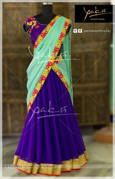 LEHANGA  An aesthetic blend of the traditional colours Code: YLD 1141 25 August 2016