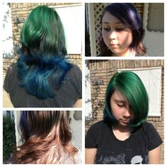 #colorful #blue #green #blockcolor #fashion #fashioncolors #hairbypeter #hair