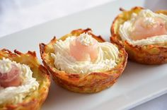 Potato Baskets Recipe - The Imperfect Kitchen Recipe - antipasti - Old Italian Recipes, Russian Recipes, Kitchen Recipes, Wine Recipes, Great Recipes, I Love Food, A Food, Food And Drink, Finger Food Appetizers