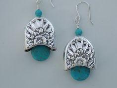 Silverware Earrings Spoon Jewelry Bridesmaids by SimplySilverr, $24.50