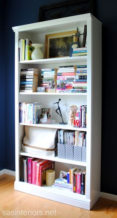 Bookshelves and Bookcases . Bookshelves and Bookcases . the Built Ins Restyled Unique Bookshelves, Styling Bookshelves, Bookshelf Design, Bookcases, Tall White Bookshelf, Office Bookshelves, Office Shelf, Bookcase Wall, Coffee Table Design