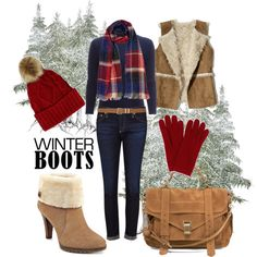walkin' in a winter wonderland by kc-spangler on Polyvore featuring White + Warren, Hollister Co., AG Adriano Goldschmied, Anne Klein, Proenza Schouler, L.K.Bennett and M&Co
