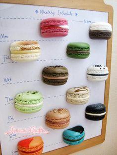 Refrigerator magnet, zakka, French macaron, office bulletin, decorative magnetic board black sesame seeds, orange creamsicle, housewarming by xunnux on Etsy