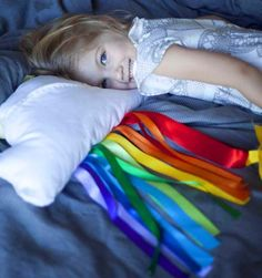 Diy Pillow Shams : DIY Cloud & Ribbon Rainbow Decorative Pillow