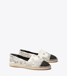 Women's Designer Espadrilles Wedges & Flats | Tory Burch Designer Espadrilles, Leopard Wedges, Flat Wedges, Holiday Fashion, Designing Women, Tory Burch, Flats, Shopping, Shoes
