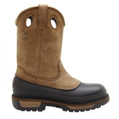 """Georgia Muddog Men's 11"""" Pull-On Work Boots G4434 Regardless, if you are wearing these Georgia Muddog pull-on boots to work or casually around town, you'll be pleased with the footwear's durability, comforting features and long-lasting outsole."""