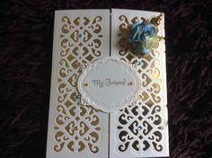 Sue wilson striplet die made this birthday card pretty.