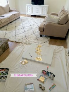 How To Make DIY Gold Leaf Abstract Art. LOVE this ... - photo #18