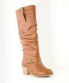 Love this Tan Scrunch Sugar Boot on #zulily! #zulilyfinds