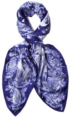 Blue and White Hermes Scarf Wrap 6b4f58fb78c76