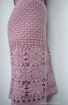 Crochet skirt PATTERN detailed TUTORIAL in por CONCEPTcreative