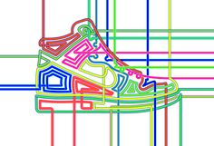 http://wilson2000.com/files/gimgs/6_15nike-dunk.jpg- Really like the neon colours used in this illustration they are work really well together. The lines that fly off the end of the trainer remind me of the movie Tron for some reason.