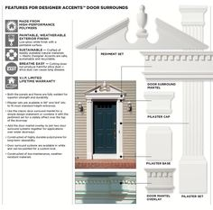 1000 images about vinyl siding colors on pinterest home for Exterior door pediment and pilasters