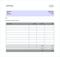 supplier invoice templates free word format templates for invoices