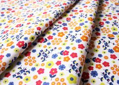 Fabric Finders #1129 Multi Floral on White