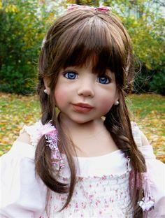 Gorgeous Realistic Doll Blue Eyes