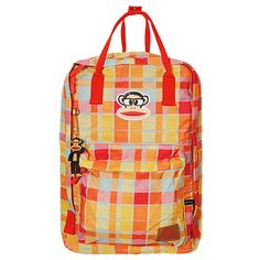 8d75075a0 Essa mochila do Paul Frank é um sucesso! Cores alegres e estampa xadrez é o  que há ;D