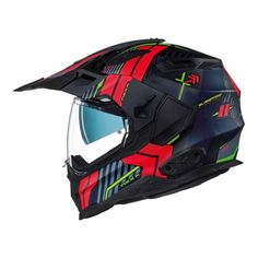 The outer shell is constructed from multiaxial fiberglass, organic fibers combined with aramid and carbon fiber. This release system also allows you to keep the visor in place and instead remove the face shield. Motorcycle Helmets, Bicycle Helmet, Carbon Fiber, Baby Car Seats, Adventure, Country, Red, Ebay, Black