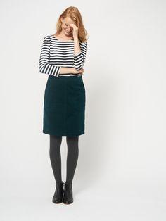 New White Stuff Glen Green Clocktower Cord Corduroy Line Skirt UK 12 A Line Skirts, Mini Skirts, Green Skirt Outfits, Grey Tights, Black Floral Skirt, Lace Back Dresses, Reversible Skirt, Corduroy Skirt, Woman Outfits