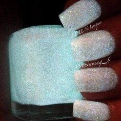 Glow Diamonds - A spectraflair nail pollish glow in the dark.