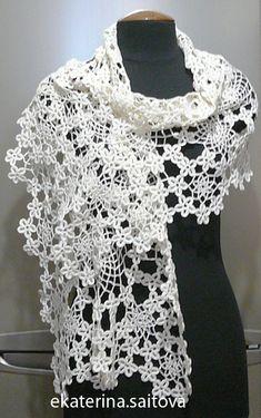 Wow. Gorgeous Irish lace crochet wrap. A confection!