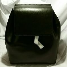 "FINAL Host Pick BARNEYS BLACK SAFFIANO LEATHER Gorgeous black saffiano leather mini backpack. Will fit 12"" electronics (as shown). india (barneys new york Bags Backpacks"