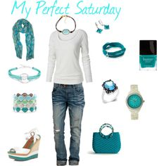 My Perfect Saturday, created by karol-dickmann on Polyvore