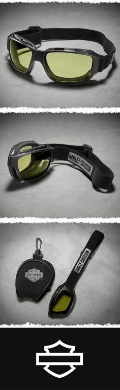 Top off your ride with H-D Performance eyewear.   Harley-Davidson Bend Performance Goggles - Yellow