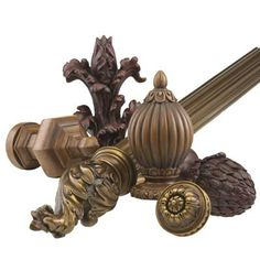 Renaissance Collection- AvailableTo the Trade from Stacy Coulter & Associates White Curtain Rod, Pipe Curtain Rods, Curtain Brackets, Glass Curtain, Finials For Curtain Rods, Metal Curtain, Shower Curtain Rods, Plain Curtains, Sliding Curtains