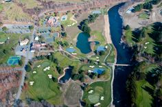 An aerial view of our courses!