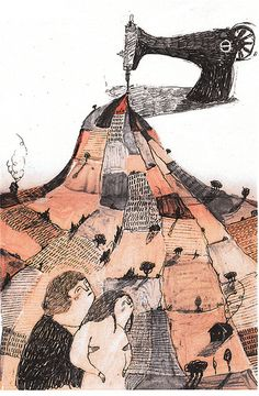 'we share the same sewing machine' by Melissa Castrillon, via Flickr