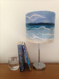 Seascape lampshade by The WeeFelt Art Company.