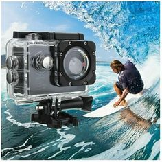 With easy to use and high performance, it is really a wonderful action camcorder for you. Waterproof shell, suitable for outdoor activity. 170 degrees wide angle is perfect for catching more details. Flash Memory Card, Waterproof Camera, Sports Camera, Gopro Hero, Camcorder, Camera Photography, Camera Accessories, Hd 1080p, Digital Camera