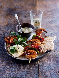 Barbecue prawns marinated in chilli and soy Recipe