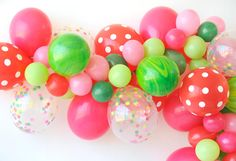 Project Nursery - Watermelon Party Balloon Garland
