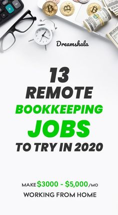 13 remote bookkeeping jobs to try in - Finance For All Work From Home Opportunities, Work From Home Jobs, Make Money From Home, Way To Make Money, Make Money Online, Online Bookkeeping, Bookkeeping Services, Budgeting Tools, Budgeting Finances