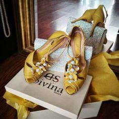 Κίτρινα Χειροποίητα παραμυθένια παπούτσια για βάπτιση Divina Yellow Shoes, Sandals, Handmade, Fashion, Hand Made, Moda, Craft, Fasion, Sandal