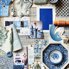 "Sarah Bartholomew's Instagram profile post: ""Blue and white delight! Loved being featured in this month's @luxemagazine feature ""In The Mood"""""