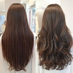 Haircut For Long Hair With Layers Brunettes Ideas Haircuts For Long Hair With Layers, Long Layered Haircuts, Haircut For Thick Hair, Long Hair Cuts, Straight Hairstyles, Long Layerd Hair, Layered Long Hair, Hair Long Layers, Ombre Hair