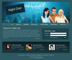 best modern website Modern Website, Night Club