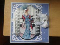 Art Deco 6x6 card.