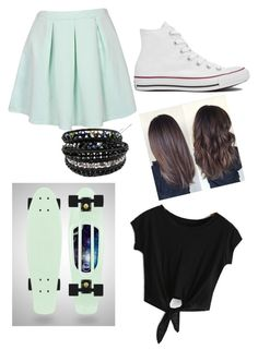 """""""Penny Boarding"""" by cesilou ❤ liked on Polyvore featuring Converse and Chan Luu"""