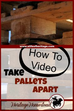 Pallets | Build with Pallets | How to take a pallet apart | Pallets are the best invention ever for those of us who value the high cost of free wood. Watch this helpful video to see how to take a pallet apart.