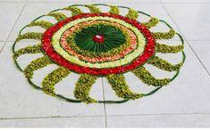 Flower Rangoli, Tree Skirts, Christmas Tree, Holiday Decor, Flowers, Home Decor, Teal Christmas Tree, Decoration Home, Room Decor