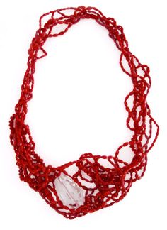 Luz Arias -  necklace: Chaos Collection 2011 – Red corals, crystal