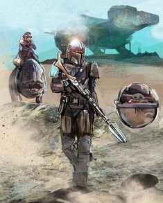 Other characters of The Mandalorian. Star Wars Clone Wars, Star Wars Saga, Theme Star Wars, Star Wars Fan Art, Star Trek, Star Wars Pictures, Star Wars Images, Boba Fett, Nave Star Wars